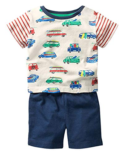 Fiream Boy's Cotton Clothing Sets T-Shirt&Shorts 2 Packs(SY066,4-5 Years)