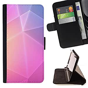 "Bright-Giant (Polígono Arte púrpuras rosadas amarillas Líneas"") Modelo Colorido Cuero Carpeta Tirón Caso Cubierta Piel Holster Funda Protección Para Samsung Galaxy Core Prime / SM-G360"