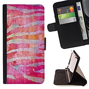Momo Phone Case / Flip Funda de Cuero Case Cover - Zebra Stripes Rojo Fucsia - MOTOROLA MOTO X PLAY XT1562