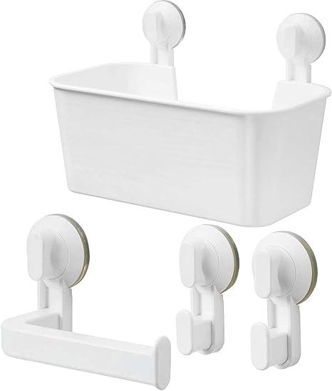 Accessori Bagno A Ventosa Ikea.I K E A Ikea Stugvik Set Di Supporto Per Carta Igienica Con Ventosa Colore Bianco Amazon It Casa E Cucina