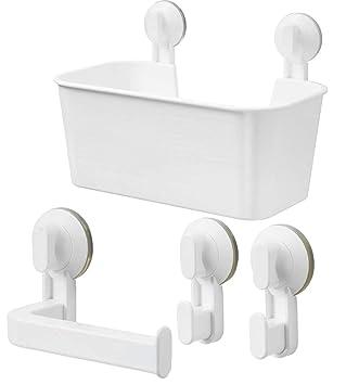 Ikea Stugvik Set Duschkorb Toilettenpapierhalter Häken Mit Saugnapf