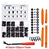 CNIKESIN 440 Pcs Auto Retainer Clips Plastic Rivets Fasteners Bumper Clips Kit Door Trim Panel Clips for GM Ford Toyota Honda Chrysler Auto Push Pin Rivets Set