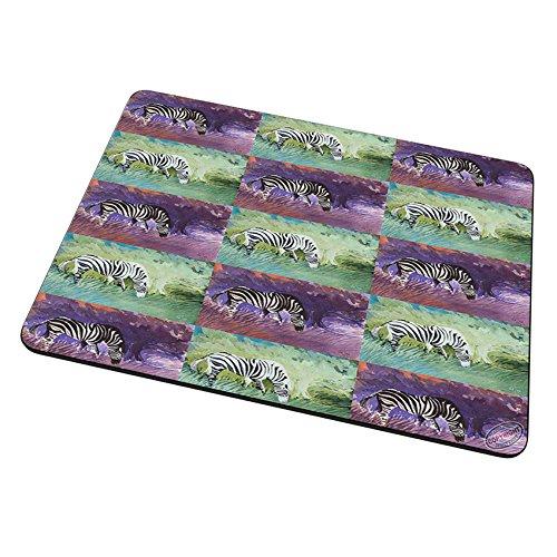 Mouse Pad Trivet Hot Plate - Zebra at Twilight Equine Pattern Art by Denise (Zebra Trivet)
