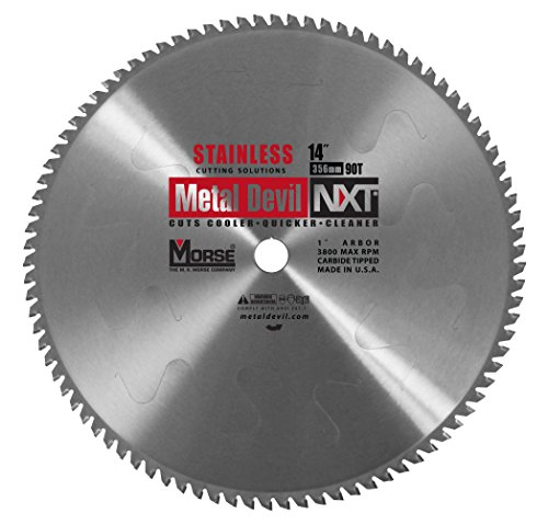 MK Morse CSM1490NSSC Metal Devil NXT Circular Saw Blade for Stainless Steel Cutting
