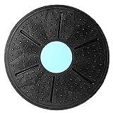 KathShop Balance Board 360 Degree Rotation Massage Disc Round Plates Board Gym Waist Twisting Exerciser Load-Bearing 160kg Random Color