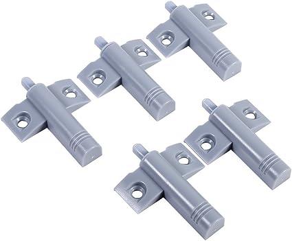 Gris 20 Piezas Amortiguador de Puerta Silencioso Bisagra de Caj/ón de Gabinete