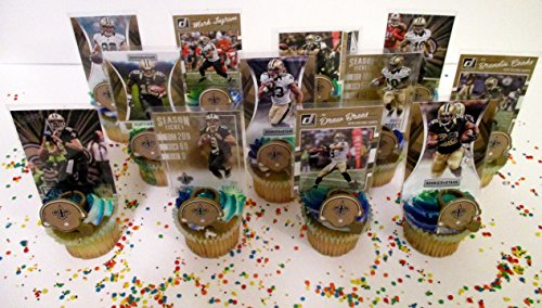Price comparison product image New Orleans Saints 24 Piece Birthday Cupcake Topper Party Favor Set
