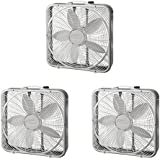 Lasko 20 3 Speed Settings and Easy Carry Handle Preimum Steel Box Fan (3 Pack)