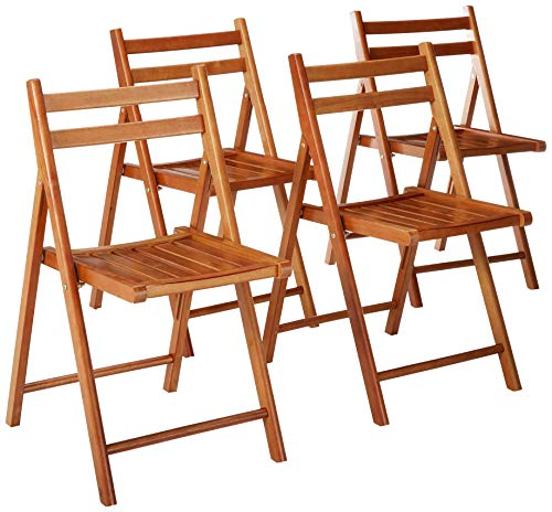 Winsome Wood 33415 Robin 4-PC Folding Set Teak Chair, ()