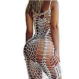 Women's Vintage Crochet Lace Bikini Swimsuit Cover Ups Short Hollow Out Beach Dresses