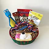 Cheap Dog Gift Basket Treats Crewing Toy Holiday Set
