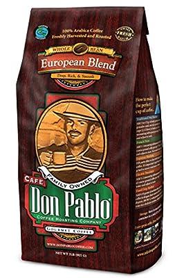 2LB Cafe Don Pablo European Blend - Whole Bean Coffee - Dark Roast - 2 Lb Bag (Whole Bean)