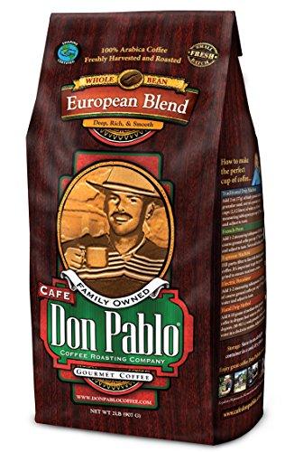 (2LB Cafe Don Pablo European Blend - Whole Bean Coffee - Dark Roast - 2 Lb Bag (Whole Bean))