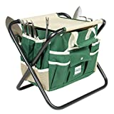 7 Piece Garden Tool Set Folding Stool W/ Tool Bag & 5 Stainless Steel Tools Bonus free ebook By Allgoodsdelight365