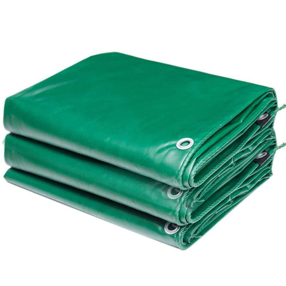 QIANCHENG-tarpaulins Wasserdicht Plane Grundblatt Markisenabdeckungen Zelt Soft Heavy Duty Regensicherer Sonnenschutz Reiß festigkeit Antialterung, 12 Grö ß en, 500 G/M² , Green-2x2m