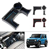 Autorder Compatiblewith Center Console Cup Holder Storage Tray Accessories for Suzuki Jimny 2018-2021 JB64W JB74W at Models