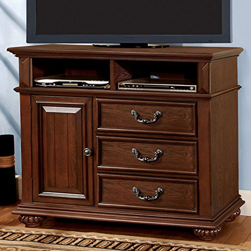 247SHOPATHOME IDF-7811TV Television-Stands, Oak (Retreat Media Chest)