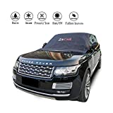 Windshield Snow Cover , ZACAR Windshield Cover with Mirror Covers for All Seasons , Blocking the heat of the sun, blocking snow, fallen leaves, bird excrement . Elastic Hooks Design Will Not Scratch Paint , Fits Most SUVs Trucks, Easy to Install (XL-96 x 57 inches)