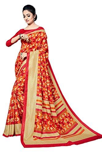 Lady Sringar Cotton Silk Saree With Blouse Piece Malgudi222_Multicolor_Free Size