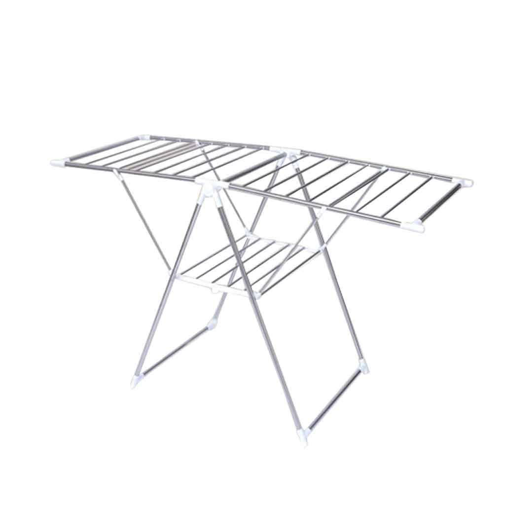 折りたたみ式乾燥ラックステンレス製乾燥ラック床置き型バルコニー衣類レールマルチバー乾燥ラックは屋内外で使用できます B07JBCQM7S