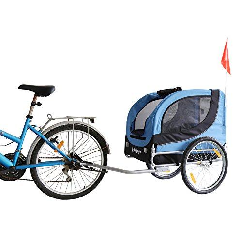 Kinbor New Basic Pet Bicycle Trailer Dog Carrier