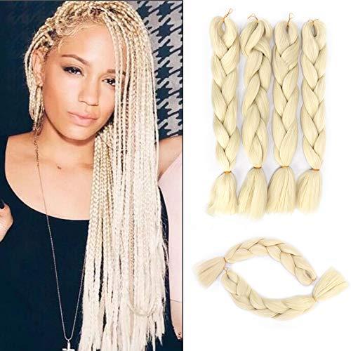 GX Beauty 613 Blonde Jumbo Braiding Hair 24 Inch Crochet Box Braids Hair Extensions Synthetic Kanekalon High Temperature Fiber