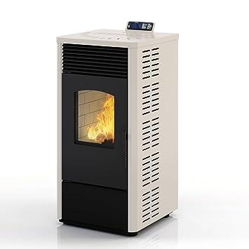 Eldstad horno de pellets estufa de pellets chimenea 10,9 kW antracita: Amazon.es: Bricolaje y herramientas