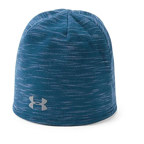 Under Armour Winter Beanie - Under Armour Men's Storm Elements Beanie, Academy (408)/Graphite, One Size Fits All