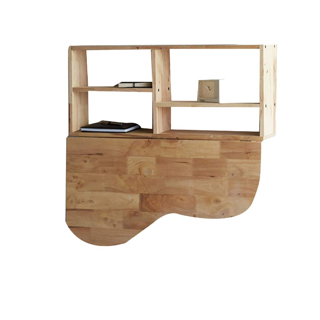 折りたたみ式のテーブルの壁、ソリッドウッドの壁の装飾折り畳み式のテーブル、マルチレイヤーのラック、クリエイティブノルディックスモールファミリーのハートテーブル   B07GGXG7GD