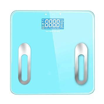 Básculas Digitales Escala de Peso Digital Alta precisión Adulto Saludable Bajar de Peso Báscula de baño Escala de Grasa Corporal 180 kg Capacidad Pantalla ...