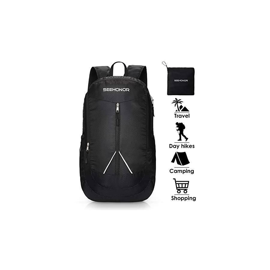 SEEHONOR 35L Packable Lightweight Backpack Hiking Daypack Foldable Ultralight Backpack Durable Water Resistant Travel Backpack