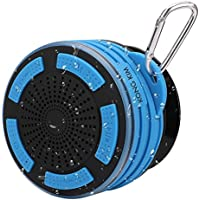 Portable Bluetooth Shower Speaker Super Loud Waterproof Wireless Bluetooth Speaker with Built-in Mic, HD Deep Stereo Bass, Led Mood Lights, Detachable Strong Suction Cup