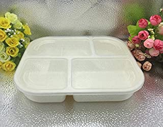 WWUUOOPRT Boîte à Lunch à Compartiments en Plastique spécial Micro-Ondes (Blanc)