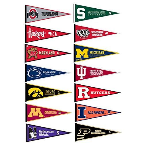 (Big Ten Conference College Pennant)