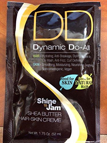 Shine n Jam DD Dynamic Do - All Shea Butter Hair Skin Creme sachet (Pack of 4) 1.75oz (The Best Dd Cream)
