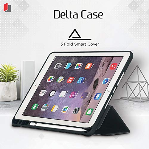 Neopack Trifold Delta Case/Flip Cover with Stylus Holder Apple iPad 10.2″ 2019 Model (Blue)