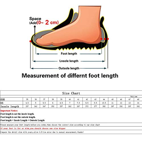 Eachbid Men's Indestructible Shoes Steel Toe Work Safety Boots Anti-Slip Deodorize Puncture-Proof Sneakers Red Black&46 by Eachbid (Image #7)