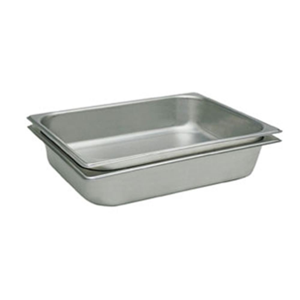 "Update International STP-1004 Full Size Pan Straight-Sided 25 Gauge, 4"" Deep"