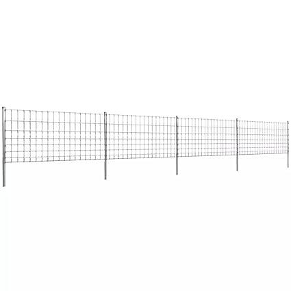 mewmewcat 50m Gartenzaun Wildzaun Verzinkt mit Pfosten 100//8//15 Gewicht 12,5 kg