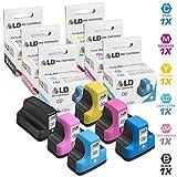 LD Remanufactured Replacements for HP 02 6PK Cartridges: 1 C8721WN Black, 1 C8771WN Cyan, 1 C8772WN Magenta, 1 C8773WN Yellow, 1 C8774WN LT Cyan, and 1 C8775WN LT Magenta