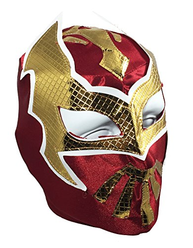 SIN CARA Youth Lucha Libre Wrestling Mask - Kids Costume Wear - Burgundy -