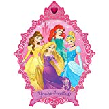 Disney Princess Giant Mirror Invitations | Pack of 8 | Party Supply