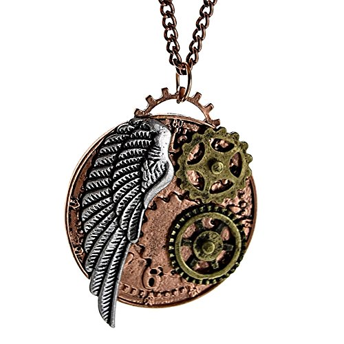 Steampunk Necklace Gears Angel