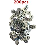 """CozYours 200 pcs 0.5"""" (12.5 mm) Metal Candle Wick Sustainer Tabs (wick tabs)"""