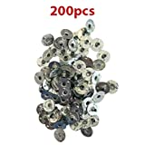 "CozYours 200 pcs 0.5"" (12.5 mm) Metal Candle Wick Sustainer Tabs (wick tabs)"