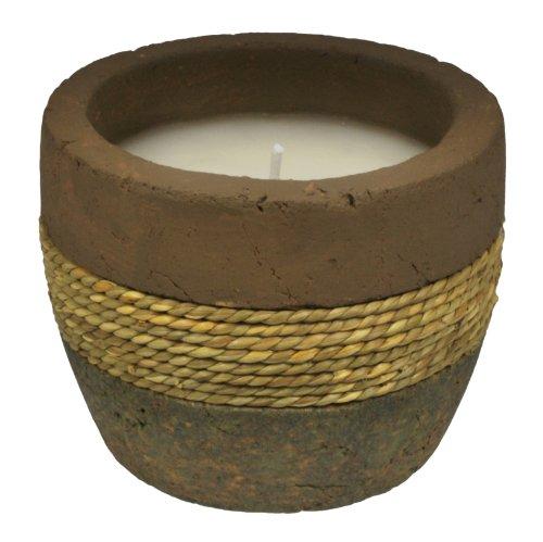 TIKI Brand Earth Tone Citronella Candle, Ceramic Rope (1) - (Terra Cotta Citronella Candle)