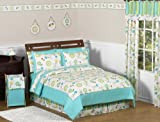 Turquoise and Lime Layla Girls Kids & Teen Bedding 3pc Full / Queen Set