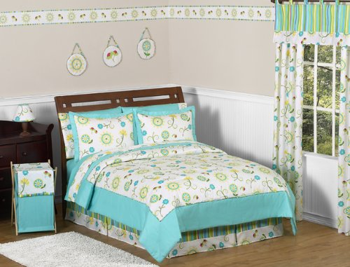 Turquoise and Lime Layla Girls Kids & Teen Bedding 4pc Twin (Layla Pillow Sham)