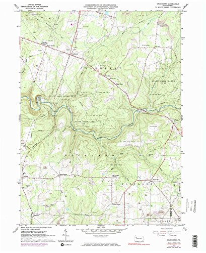 YellowMaps Cranberry PA topo map, 1:24000 Scale, 7.5 X 7.5 Minute, Historical, 1963, Updated 1983, 27 x 22 in - Paper