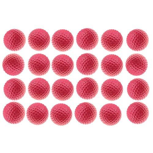 Kofull Golf Balls PU Foam Sponge Ball Indoor Outdoor Practice Ball Training Soft Balls Kids Toy Pets Balls for Fun(pink…